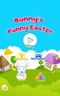 Easter Funny Bunny Catch Eggs