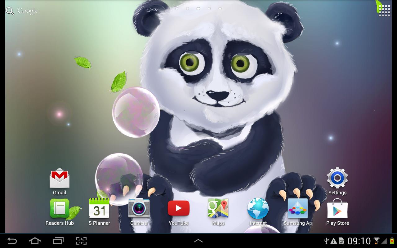 Gmail panda theme - Sleepy Panda Live Wallpaper Screenshot
