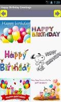 Screenshot of Happy Birthday Greetings