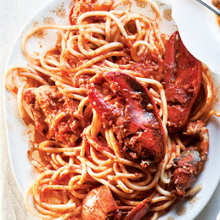 Lobster Fra Diavolo (Lobster in Spicy Tomato Sauce).
