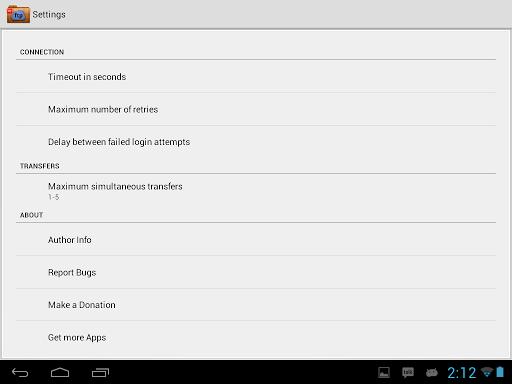FTP Player (client) 2.0.0 screenshots 7