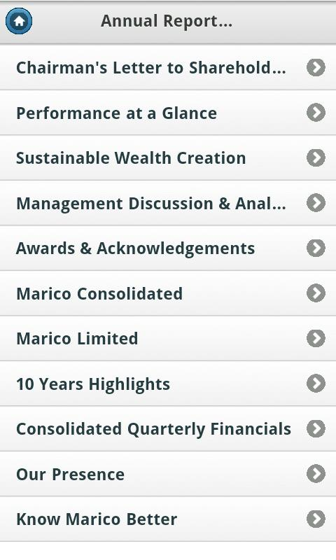 Marico Investor App - screenshot