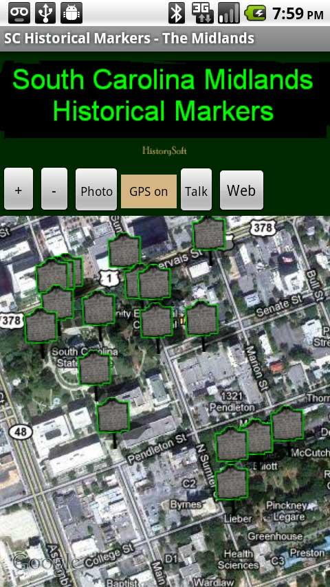SC Midlands Historical Markers- screenshot