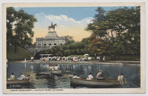 Lincoln Park Lagoon and Ulysses S. Grant Monument