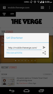 URL Shortener (goo.gl-er) screenshot 1