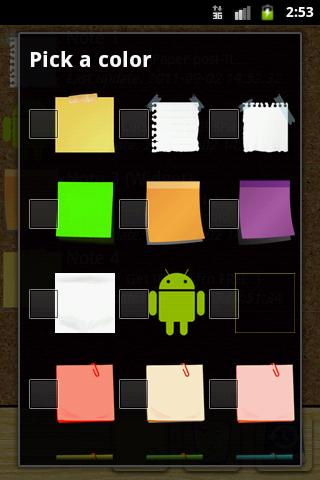 Quick Note sticky note widget- screenshot