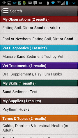Horse Side Vet Guide Screenshot