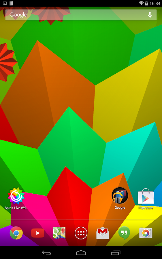 SpinIt Live Wallpaper- screenshot