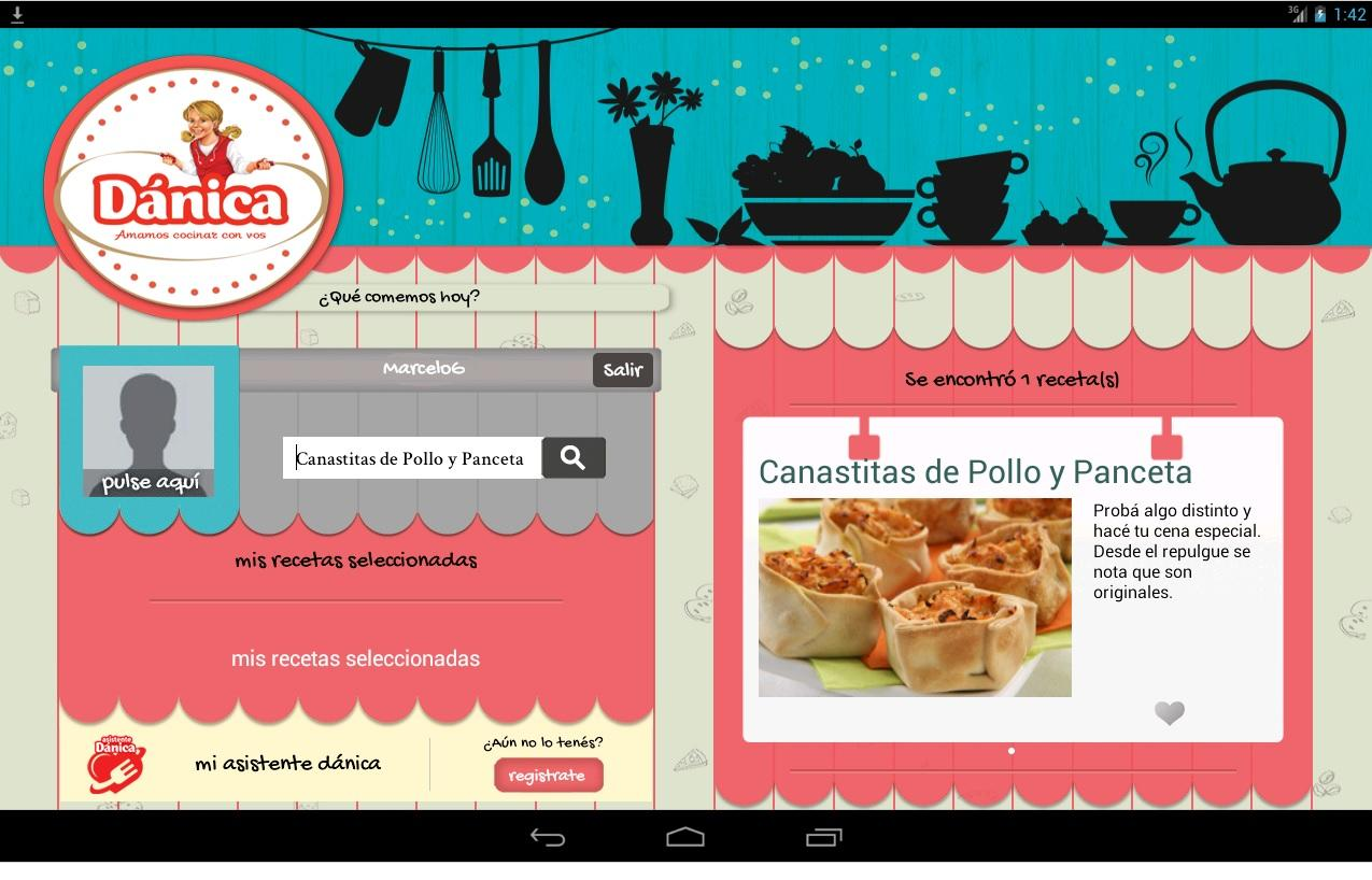 Recetario Dánica - Para Tablet- screenshot