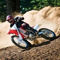 Off-road motorcycle racing icon