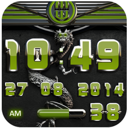 dragon digital clock olive