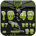 dragon digital clock olive icon
