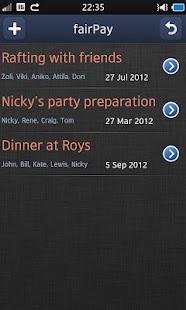 fairPay - Share Expenses- screenshot thumbnail