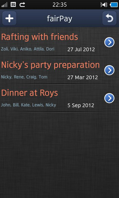 fairPay - Share Expenses- screenshot