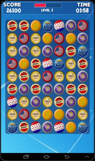 Bottle Caps Splash Game
