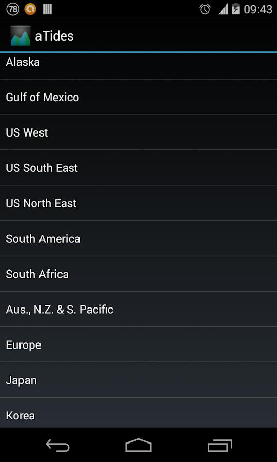 aTides - screenshot