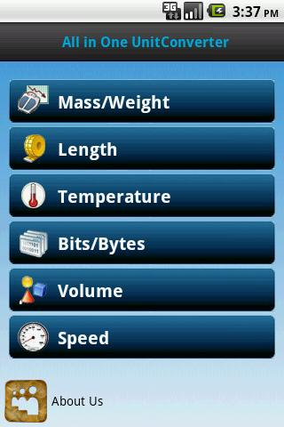 All in one unit converter - screenshot