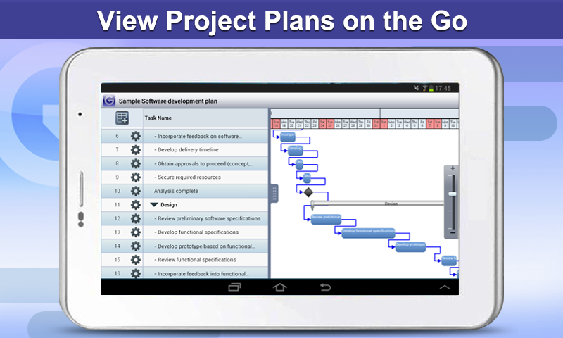 Gantt Pro HD - Plan Reader - screenshot