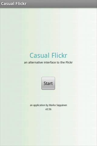Casual Flickr- screenshot