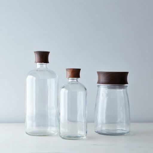 Boston Bottle Hand-Turned Jar and Lid