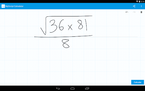 MyScript Calculator- screenshot thumbnail