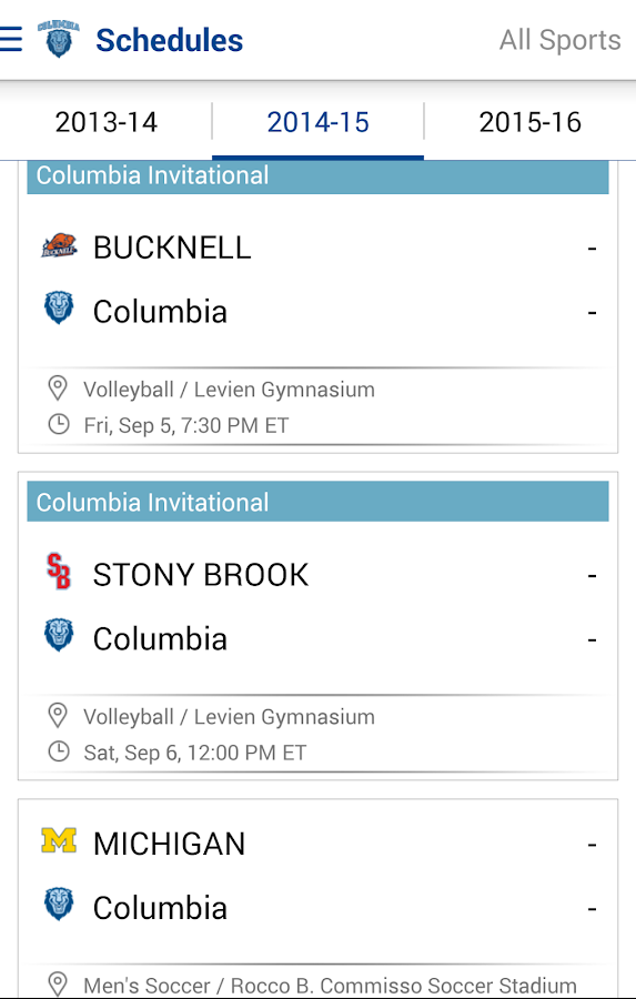 Columbia Lions- screenshot