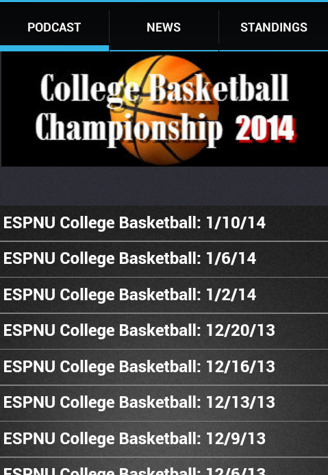 College Basketball Finals 2014 - screenshot