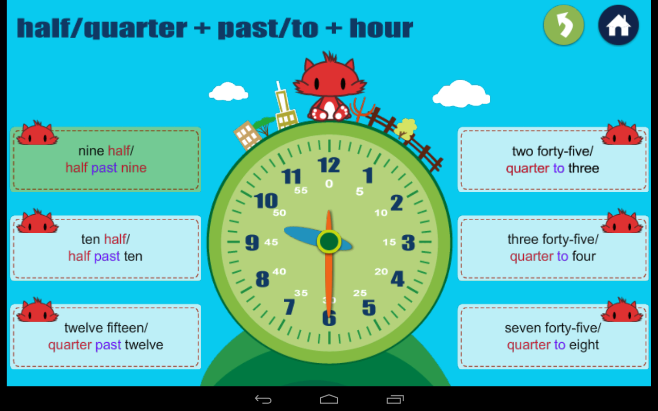 Kids Learn Time - screenshot