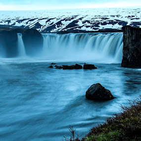 Gudafoss Of The Gods. 18.th of May 2014 by Lillian Molstad Andresen - Landscapes Waterscapes (  )