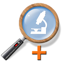 Cozy Magnifier & Microscope + mobile app icon