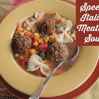 Italian Bowtie Meatball Stew.