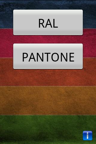 Color detector for RAL PANTONE- screenshot