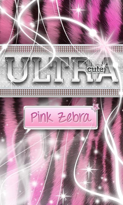 Ultra Cute Pink Zebra Theme - screenshot