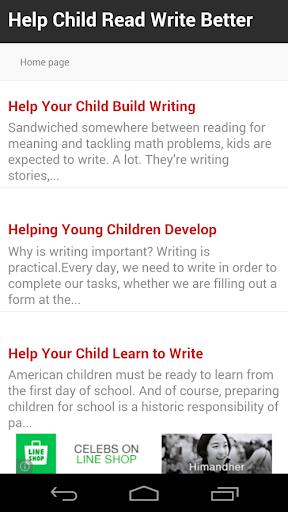 Help Child Read Write Better