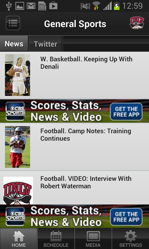 UNLV Athletics - screenshot