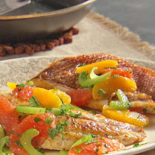 Pan-Seared Red Snapper with Citrus-Herb Relish.