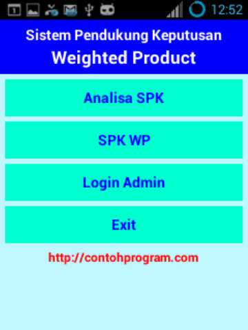 SPK WP (Weighted Product)- screenshot