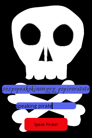 Speak Pirate- screenshot