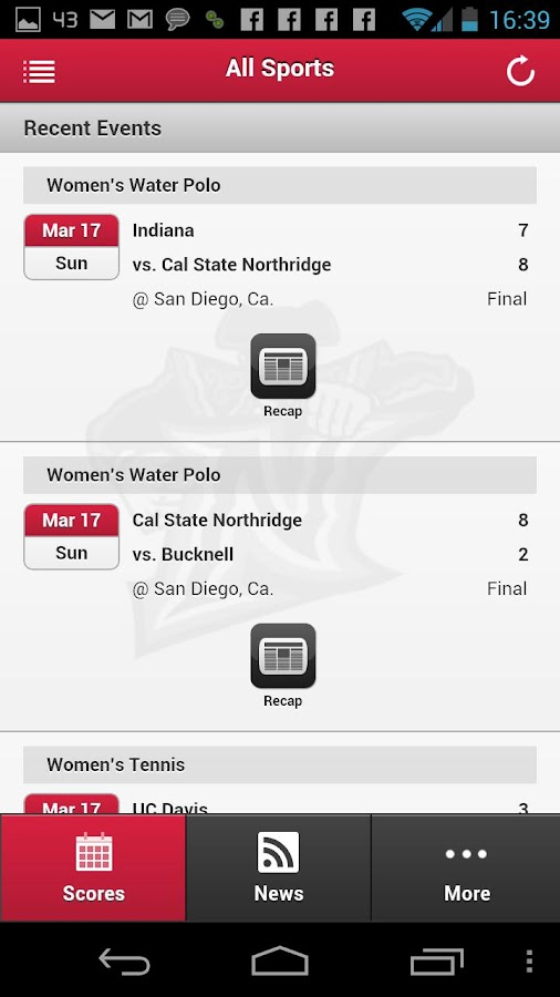 CSUN Matadors Front Row - screenshot