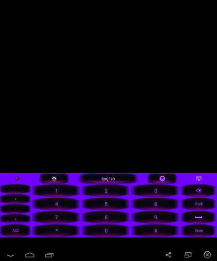 GO Keyboard Purple Theme