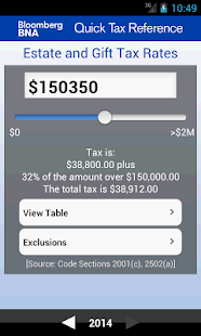 BNA Quick Tax Reference - screenshot thumbnail
