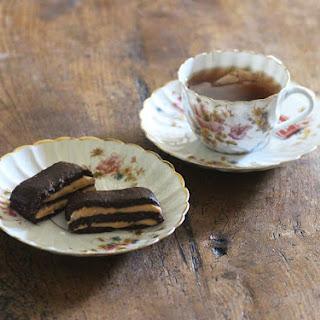 CHOCOLATE PEANUT LAYER COOKIES