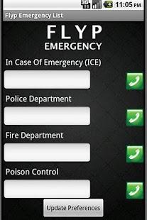 Flyp Emergency List - screenshot thumbnail