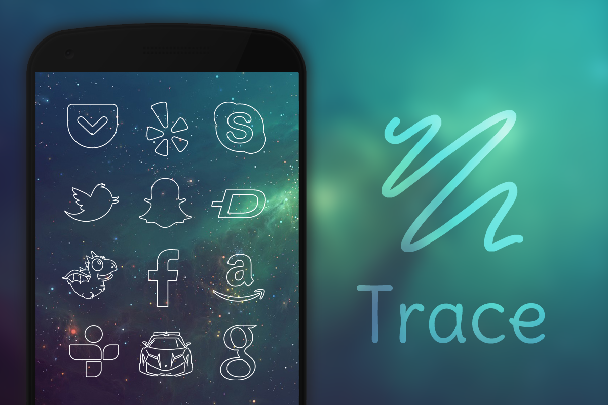 Trace - Icon Pack- screenshot