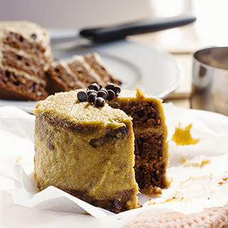Vegan Chocolate Velvet Cake with Mango Cashew Frosting