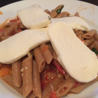 Penne with garden Fresh Tomatoes and Basil plus Mozzarella
