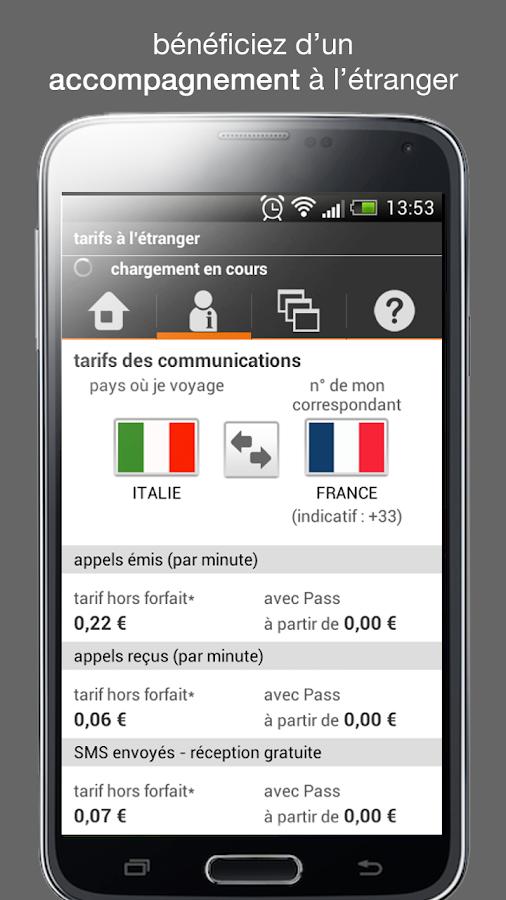 Orange et moi, l'espace client - screenshot