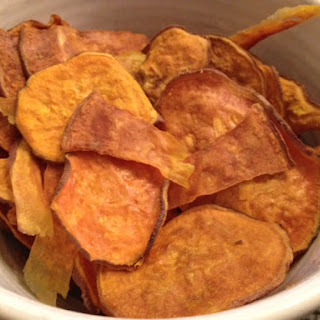 Easy Homemade and Healthy Sweet Potato Chips.