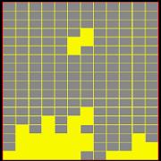 The falling block game
