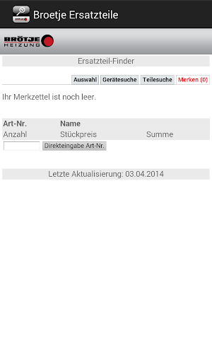 BRÖTJE Ersatzteil app (apk) free download for Android/PC/Windows screenshot